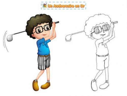 coloriage golf