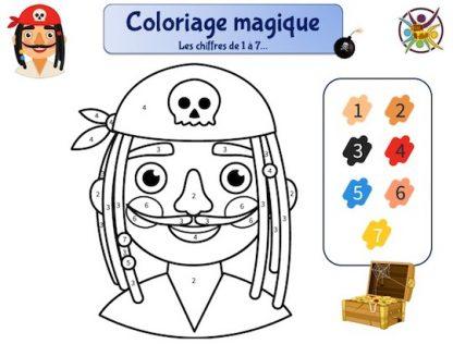 coloriage magique pirate