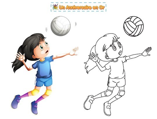 Coloriage volleyball