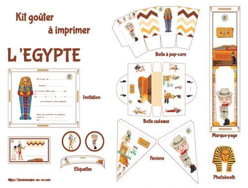 Décoration à imprimer pour anniversaire sur le thème de l'Egypte