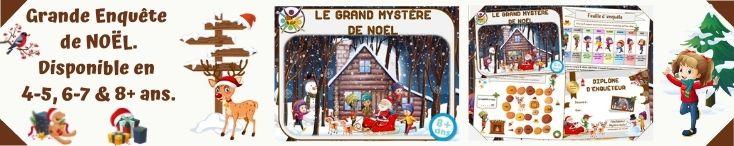 La grande enquête de Noël : jeu enfant
