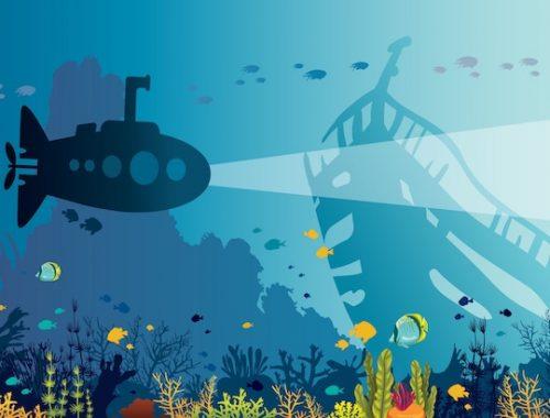 kit de jeu pour activité d'escape game expédition sous-marine