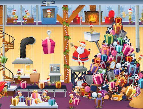Kit de jeu d'escape game de Noël pour enfants