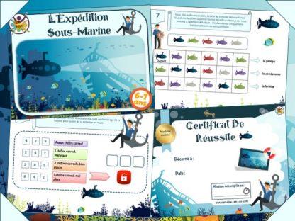 Animation escape game enfant dans les profondeurs de l'océan