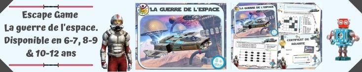 Kit de jeu d'escape game à imprimer pour enfants thème Star wars