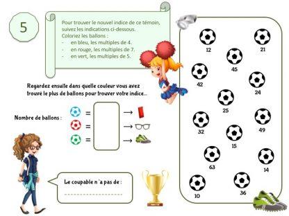 Indice pour jeu d'enquête football