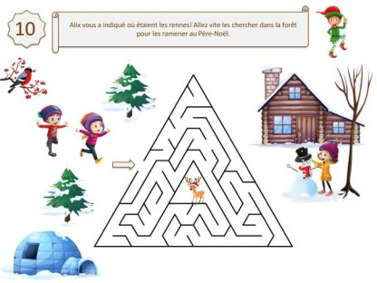 Indice pour grand jeu d'enquête de Noël pour enfants de maternelle