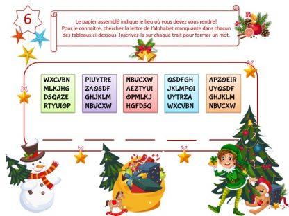 Indice jeu animation enfant Noël