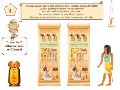 Enigmes et idées de jeux pour chasse au trésor en Égypte
