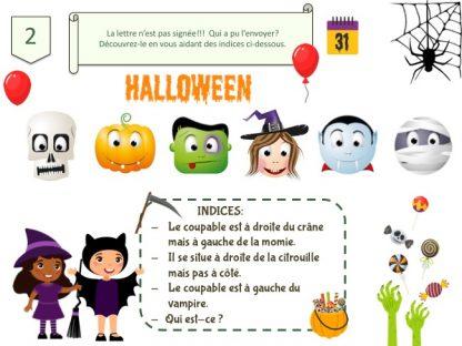 Indice de jeu à imprimer, thème Halloween