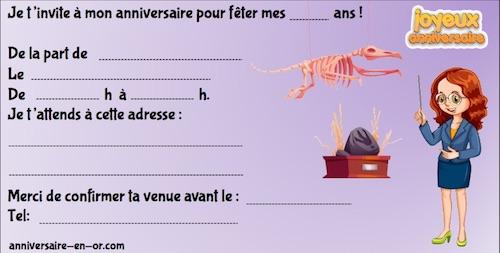 invitations anniversaire enquêtes policières enfants