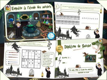 Kit de jeu anniversaire sorcier thème Harry Potter