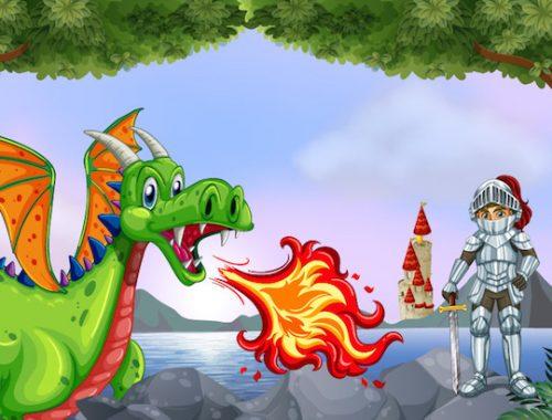Organisez une chasse au trésor des dragons et chevaliers
