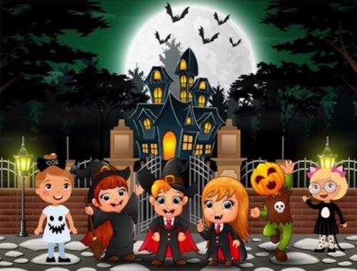 Animation de chasse au trésor d'Halloween pour enfants