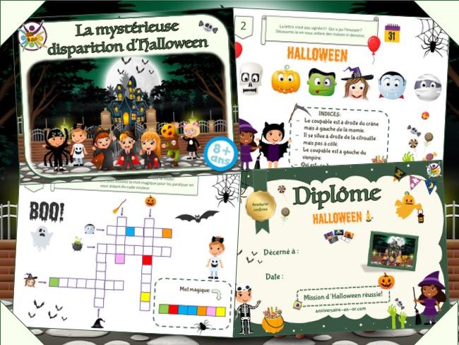 Kit de jeu de chasse au trésor à imprimer pour Halloween