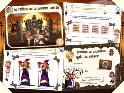 Kit de chasse au trésor à imprimer dans une maison hantée
