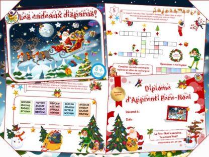 Kit de jeu de chasse au trésor pour Noël à imprimer