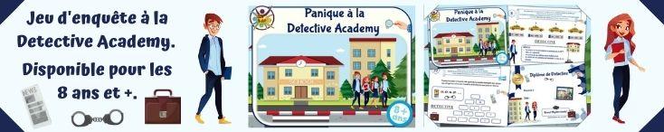 Jeu d'enquête policière pour anniversaire à la Detective Academy
