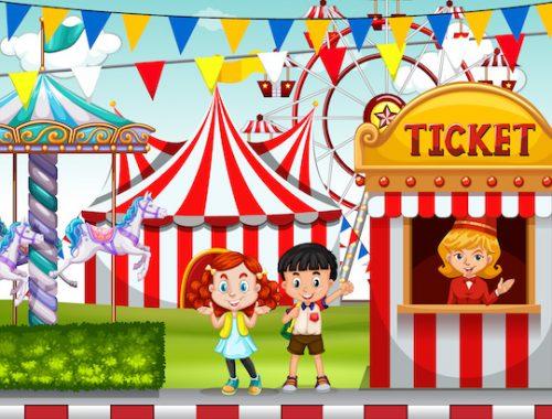 Jeu à imprimer pour enfants sur le thème du cirque!