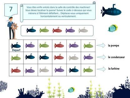 jeu escape game enfant 6-7 ans thème océan