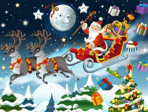 Jeu Noël à imprimer pour enfant : chasse au trésor