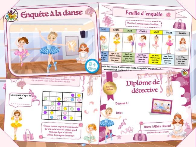 Jeu d'enquête à la danse pour enfants à partir de 8 ans