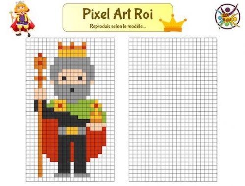 Pixel art ROI à imprimer : jeu gratuit