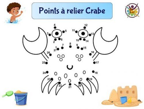 Points à relier crabe