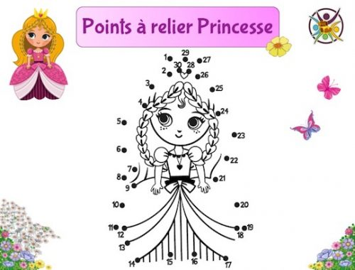 Points à relier princesse