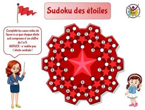 Sudoku amusant et original avec étoiles