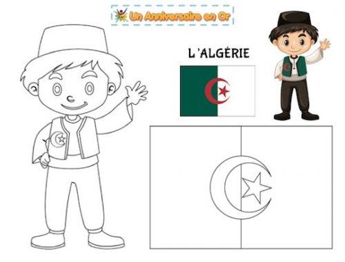 coloriage Algérie, découvre les pays du monde