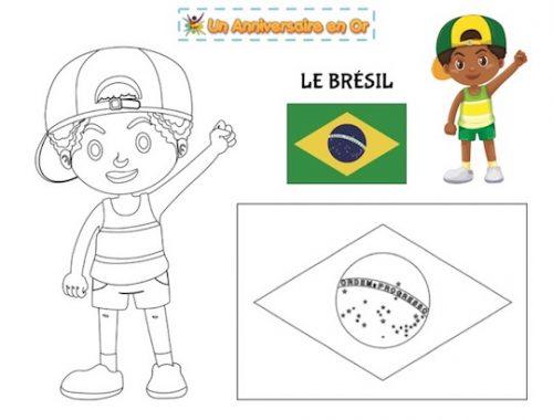 Coloriage Brésil