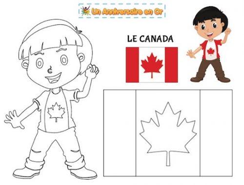 Coloriage Canada, découvre les pays du monde