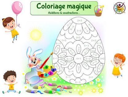 Coloriage magique Pâques