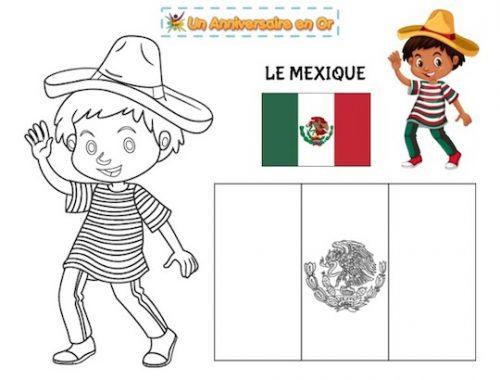 Coloriage Mexique, découverte des pays du monde