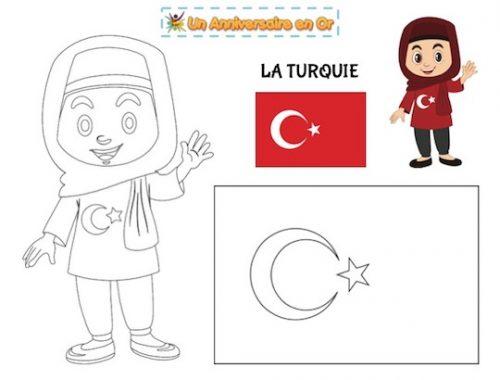 Coloriage Turquie