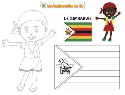 Coloriage Zimbabwe
