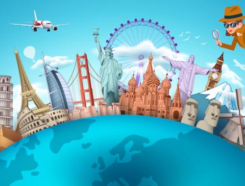 Jeu anniversaire: enquête et voyage autour du monde