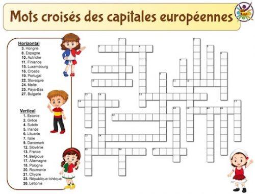 Mots croisés des capitales européennes