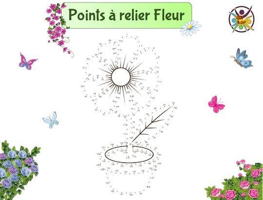 Points à relier fleur
