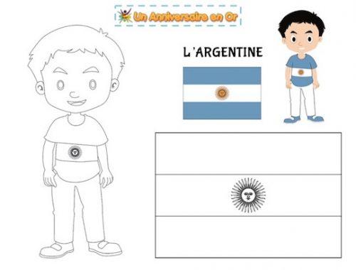 Coloriage Argentine