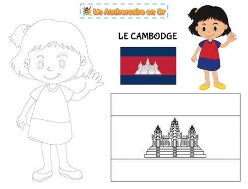 Coloriage Cambodge