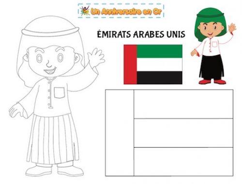 Coloriage des Émirats Arabes Unis