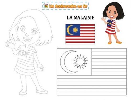 Coloriage Malaisie
