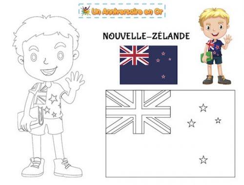 Coloriage Nouvelle Zélande