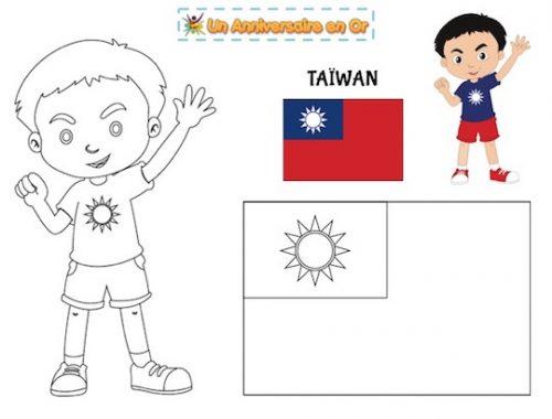 Coloriage Taïwan
