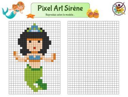 Pixel art sirène