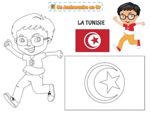Coloriage Tunisie
