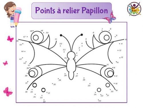 Points à relier papillon