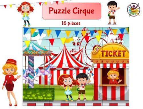 puzzle à imprimer cirque